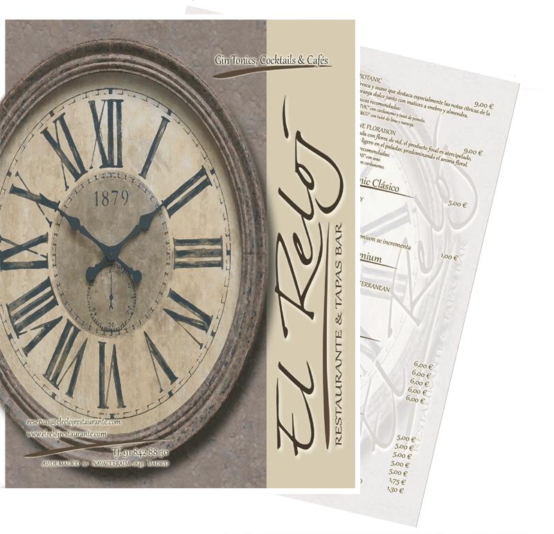 diseño e impresión de cartas para restaurantes realizados por imprenta navecerrada