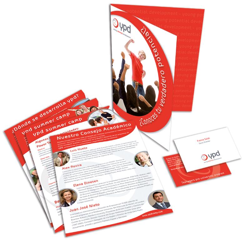 palelería corporativa carpetas tarjetas flyers en imprenta navacerrada