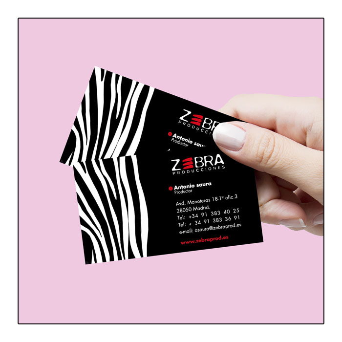 Tarjetas de visita para zebra